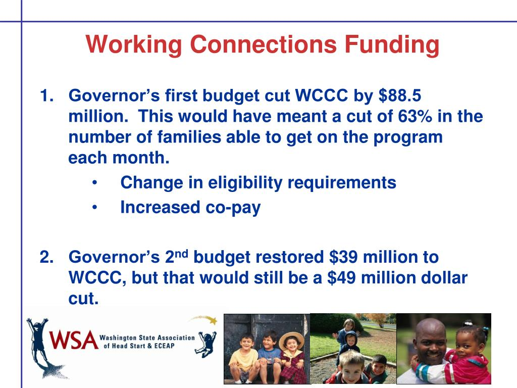 Working Connections Funding