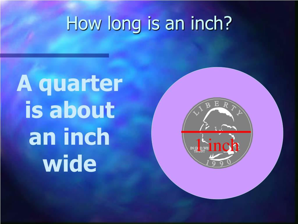 How long is an inch?