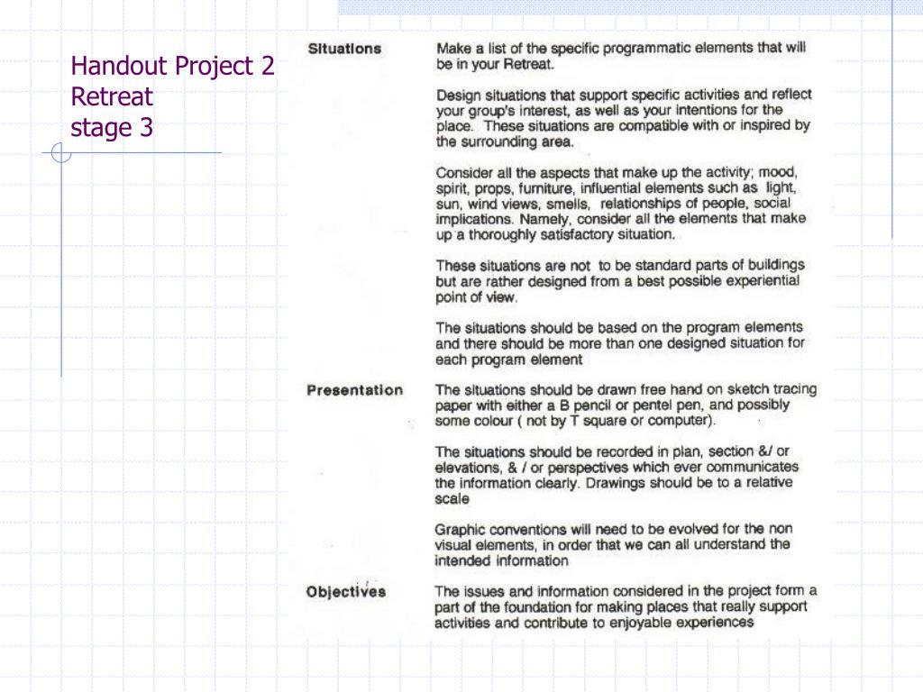 Handout Project 2