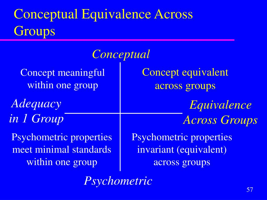 Conceptual Equivalence Across Groups