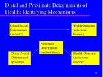 distal and proximate determinants of health identifying mechanisms
