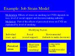 example job strain model