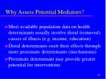 why assess potential mediators