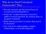 why do we need conceptual frameworks they