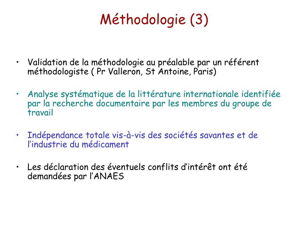 Méthodologie (3)