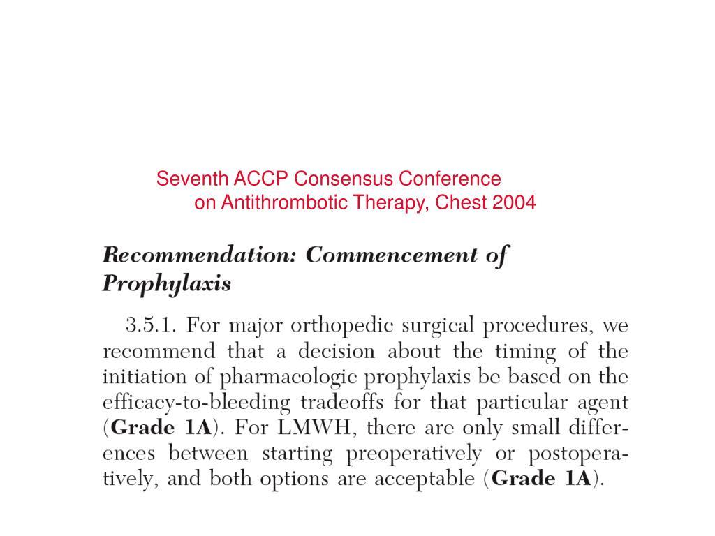 Seventh ACCP Consensus Conference