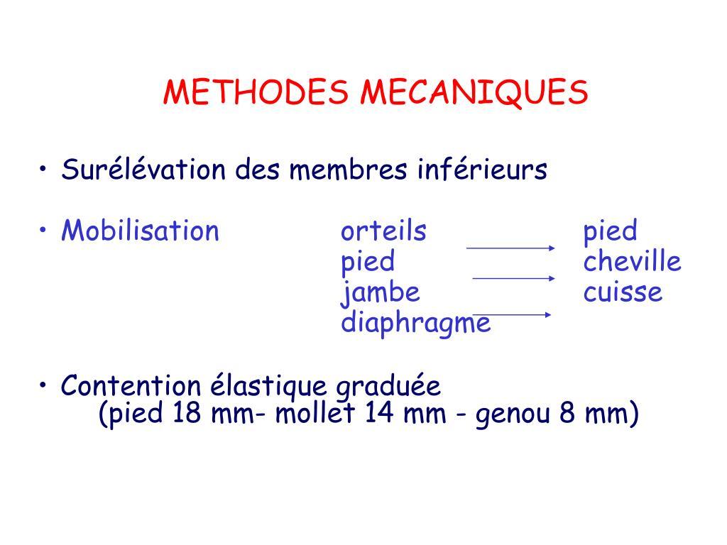 METHODES MECANIQUES