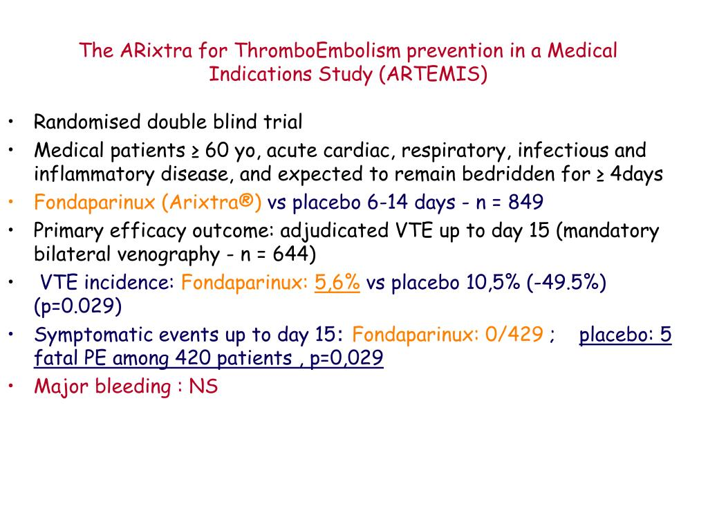 The ARixtra for ThromboEmbolism prevention in a Medical Indications Study (ARTEMIS)