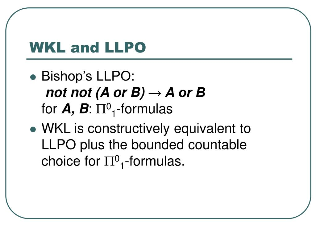 WKL and LLPO