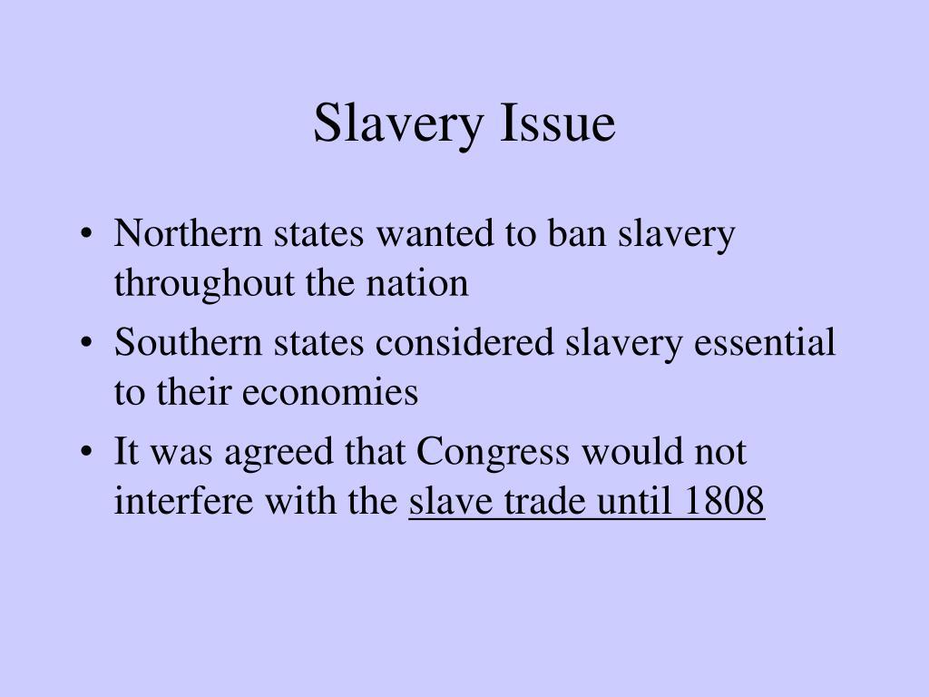 Slavery Issue
