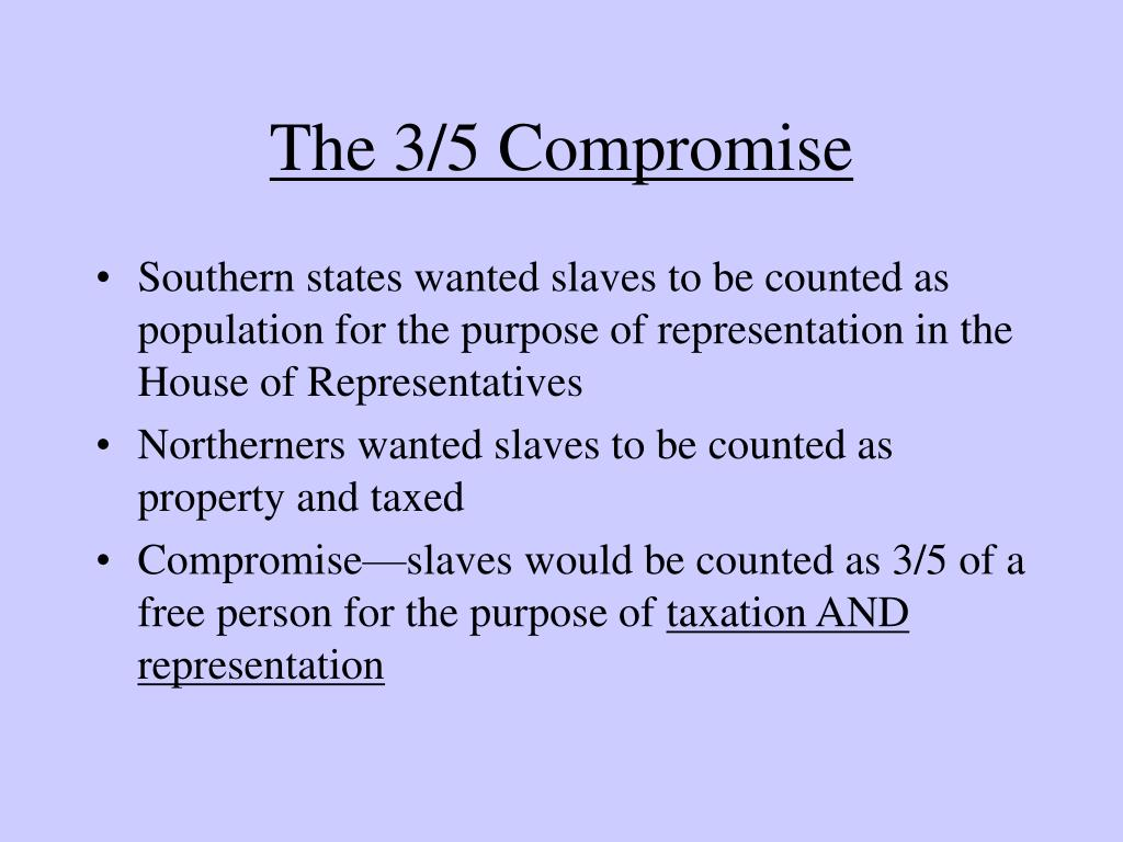 The 3/5 Compromise