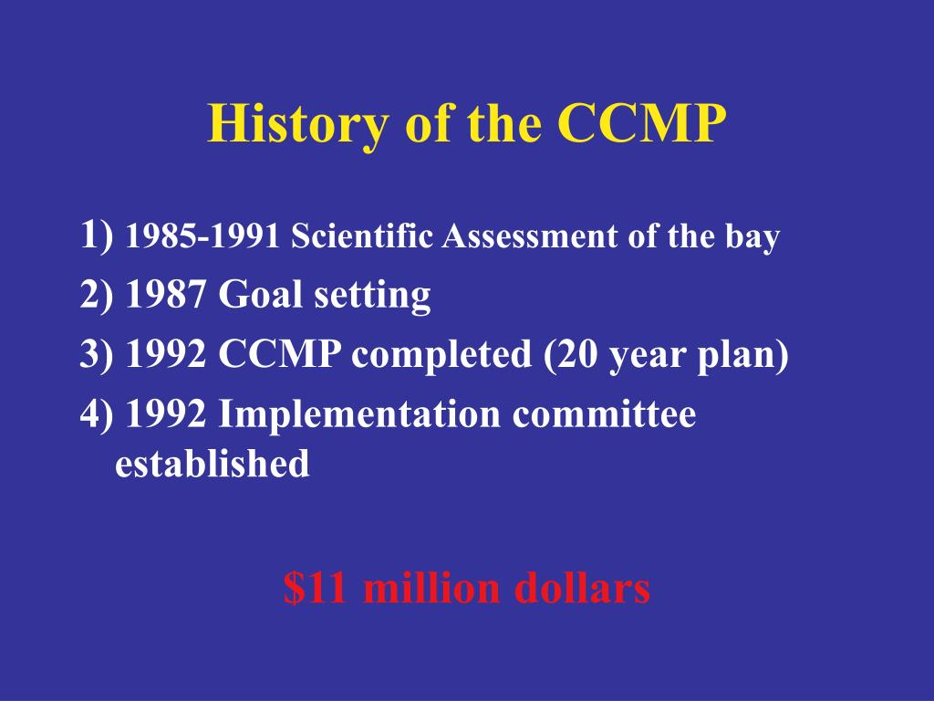 History of the CCMP