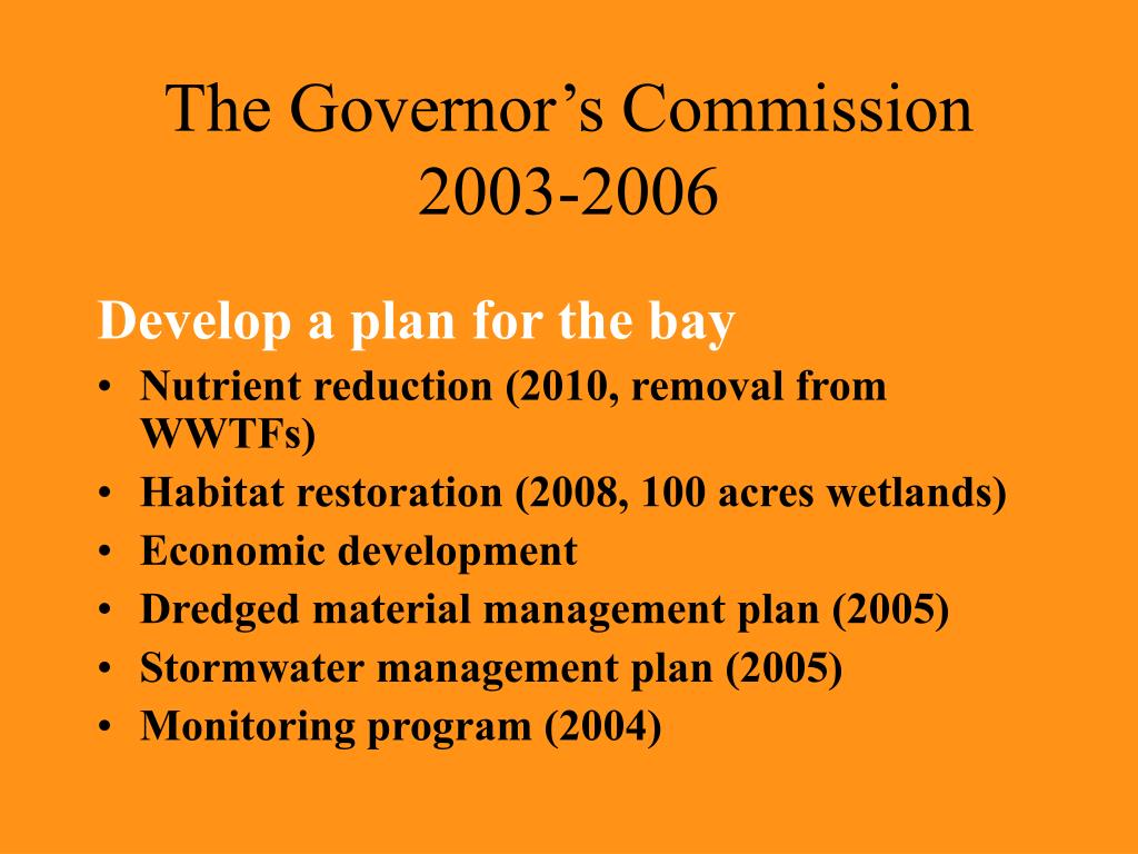 The Governor's Commission 2003-2006