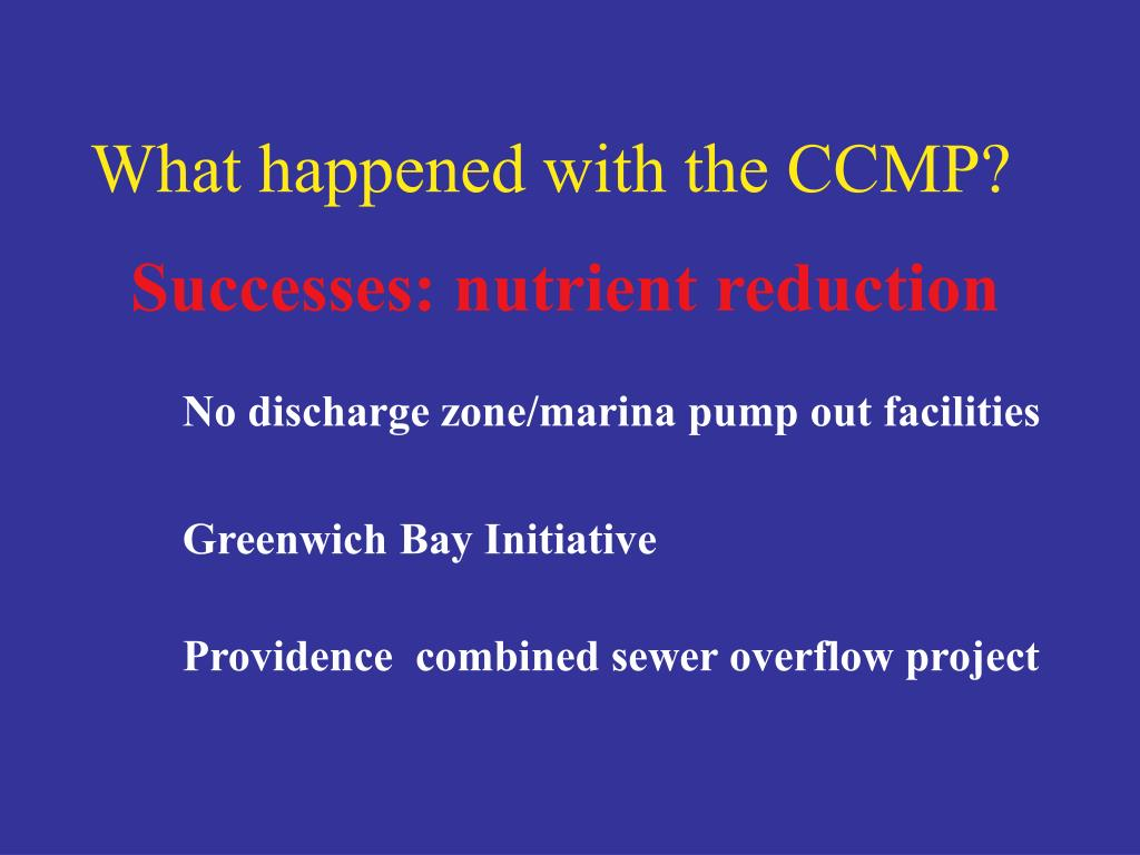 What happened with the CCMP?