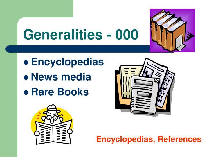 Generalities - 000