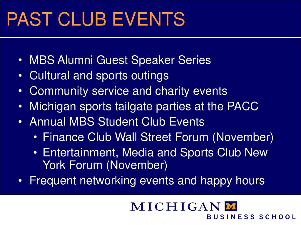 PAST CLUB EVENTS