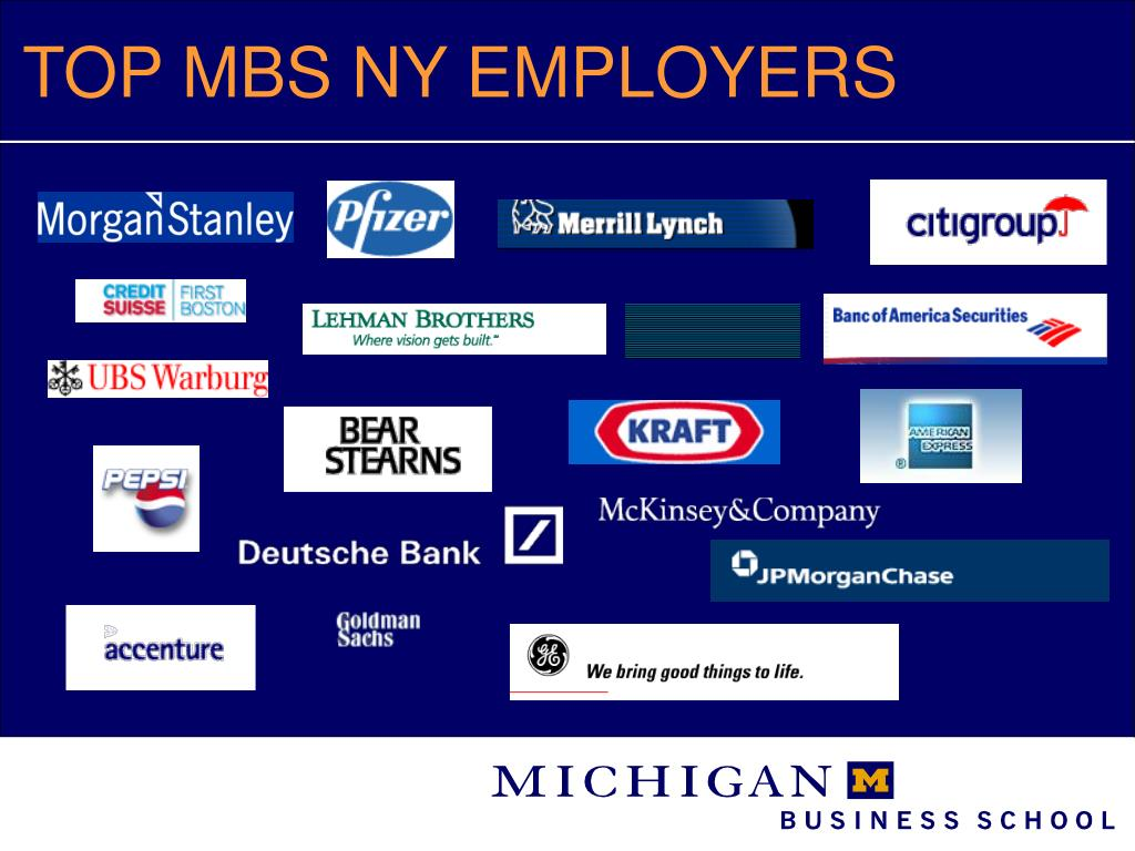 TOP MBS NY EMPLOYERS