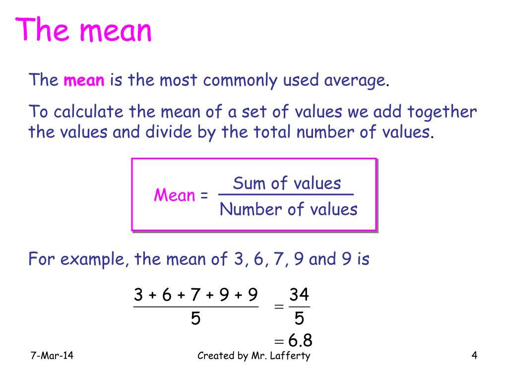 Sum of values