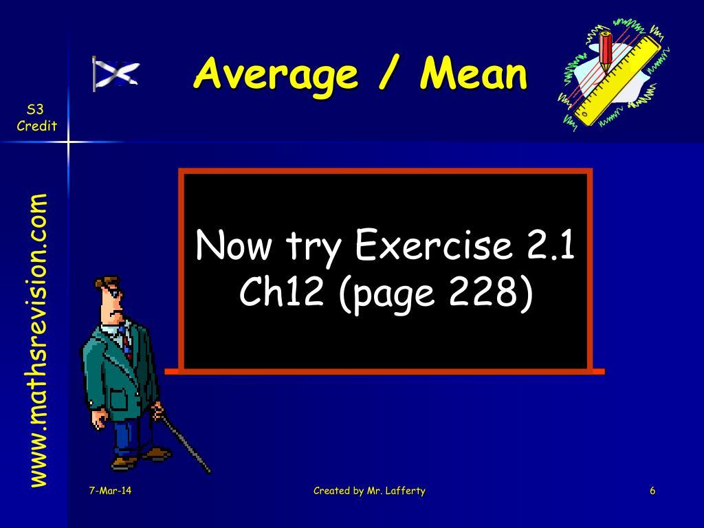 Average / Mean