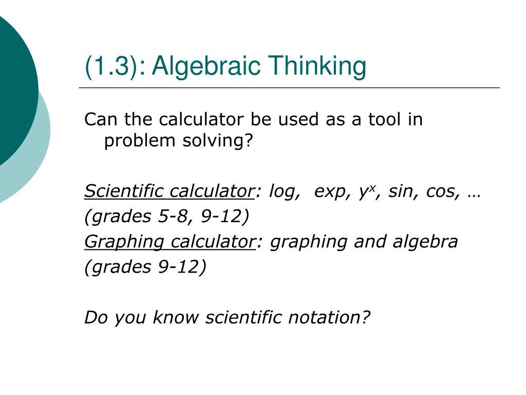 (1.3): Algebraic Thinking