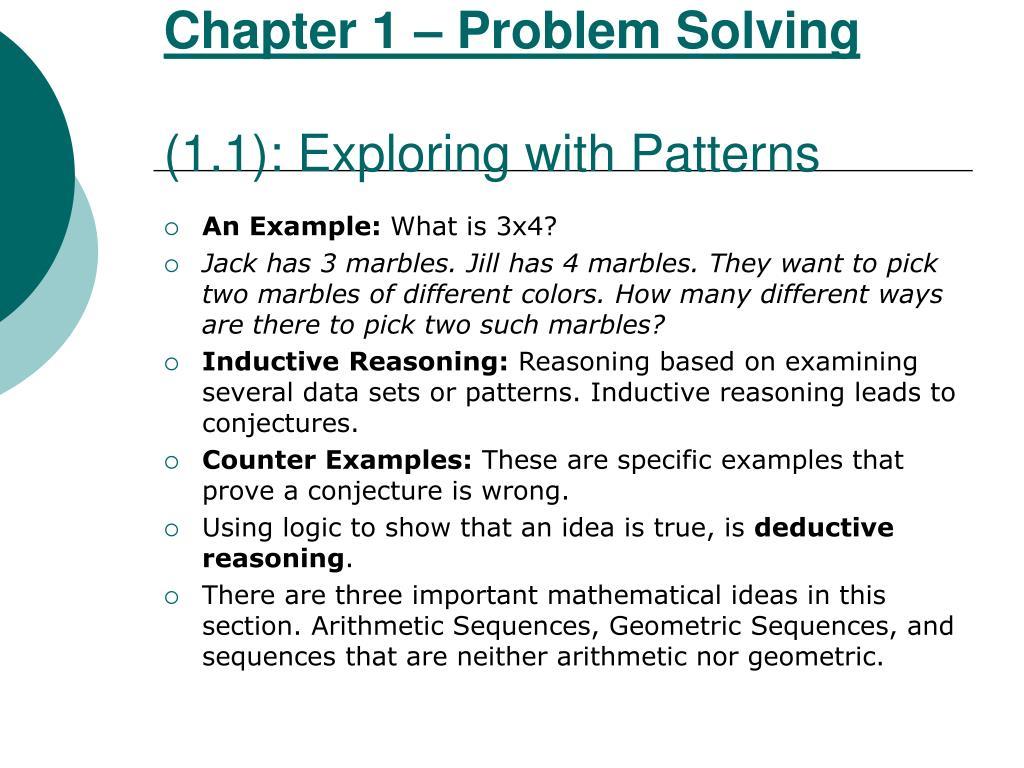 Chapter 1 – Problem Solving