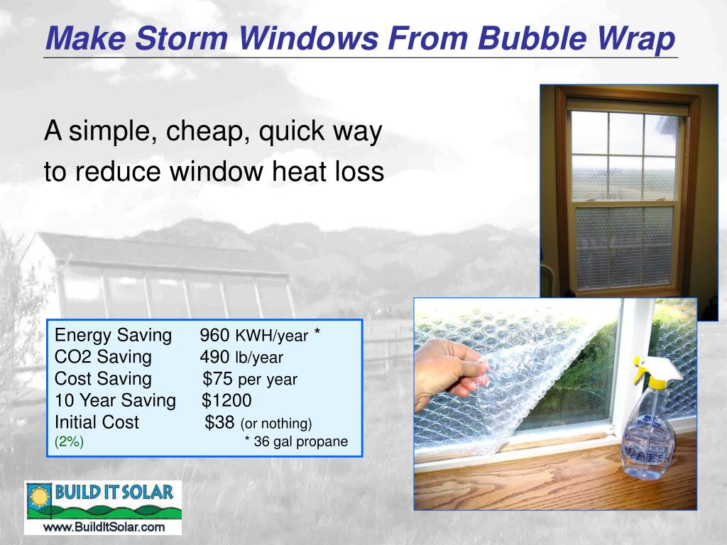 Make Storm Windows From Bubble Wrap