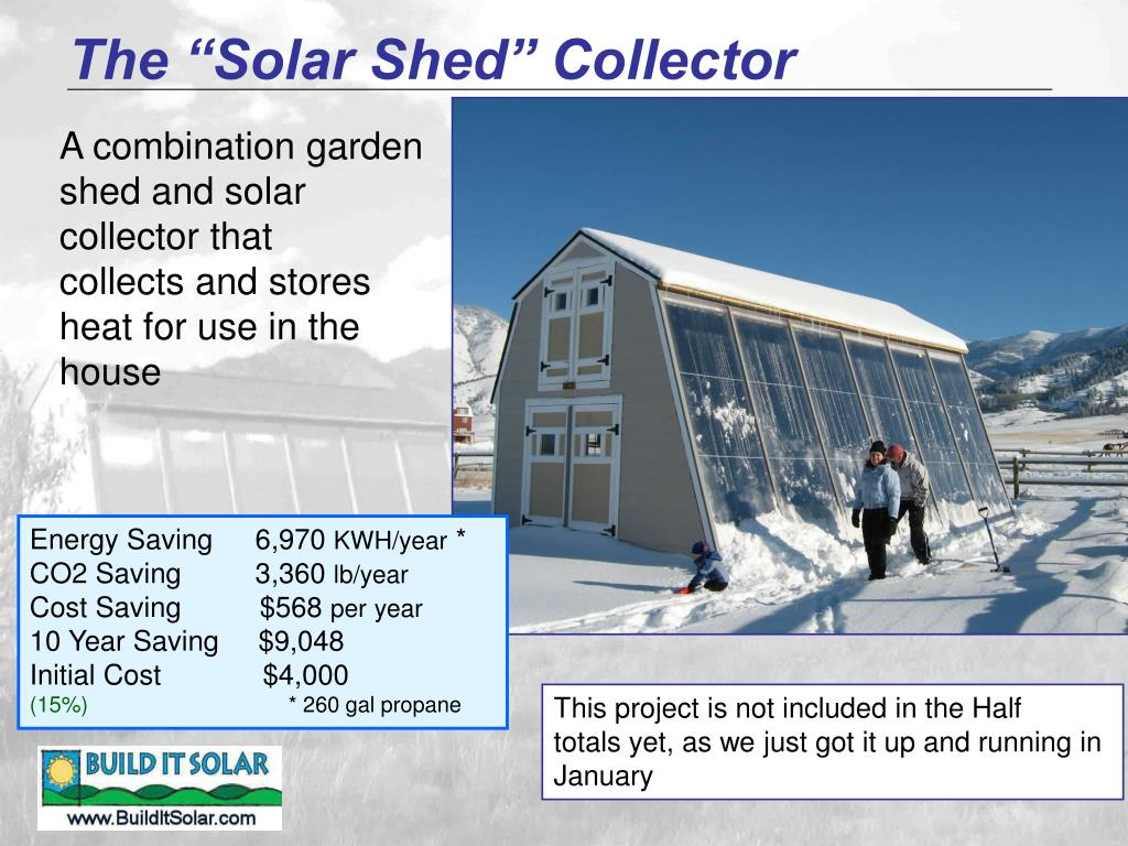 "The ""Solar Shed"" Collector"