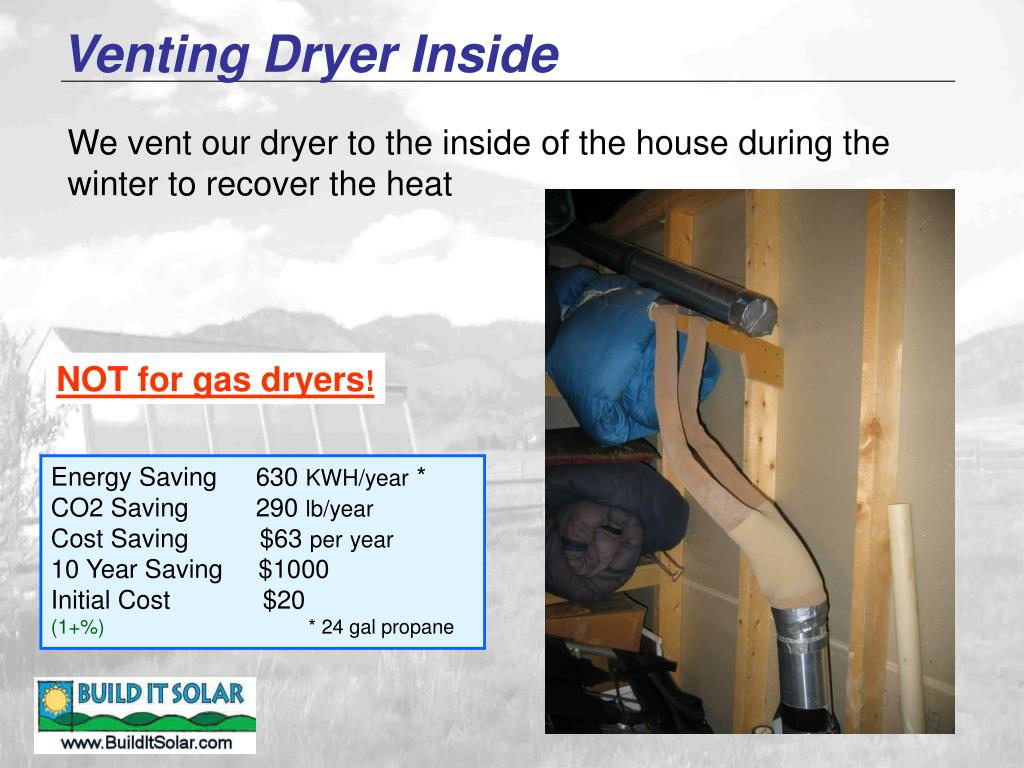 Venting Dryer Inside