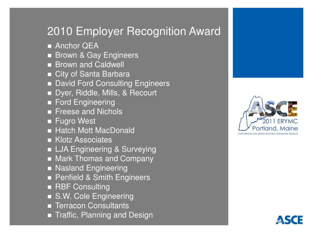 2010 Employer Recognition Award