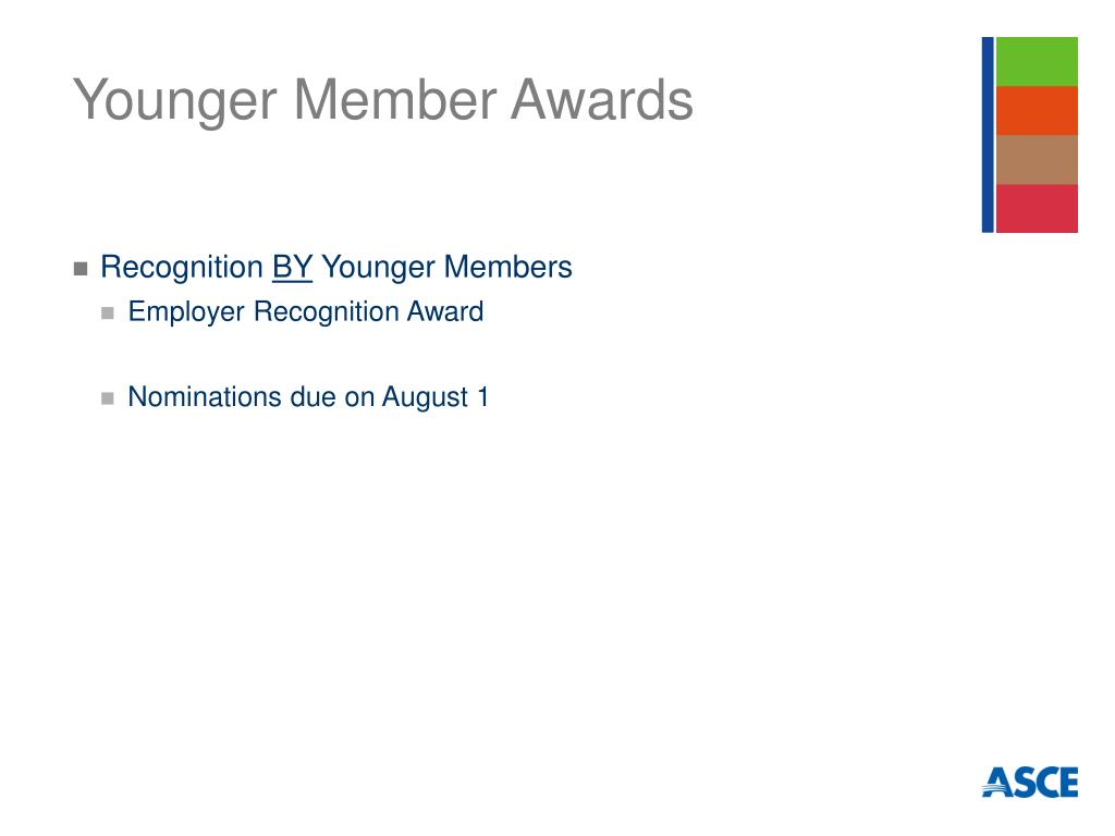 Younger Member Awards