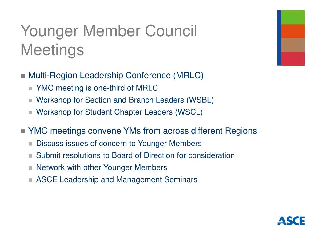 Younger Member Council Meetings