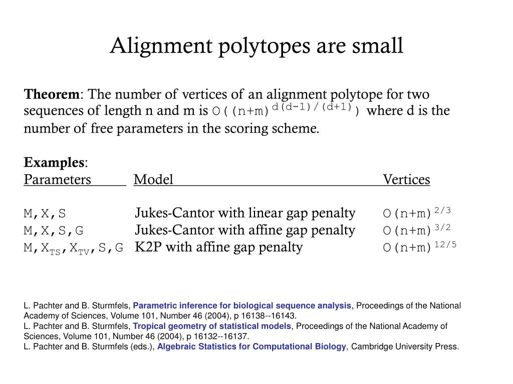 Alignment polytopes are small