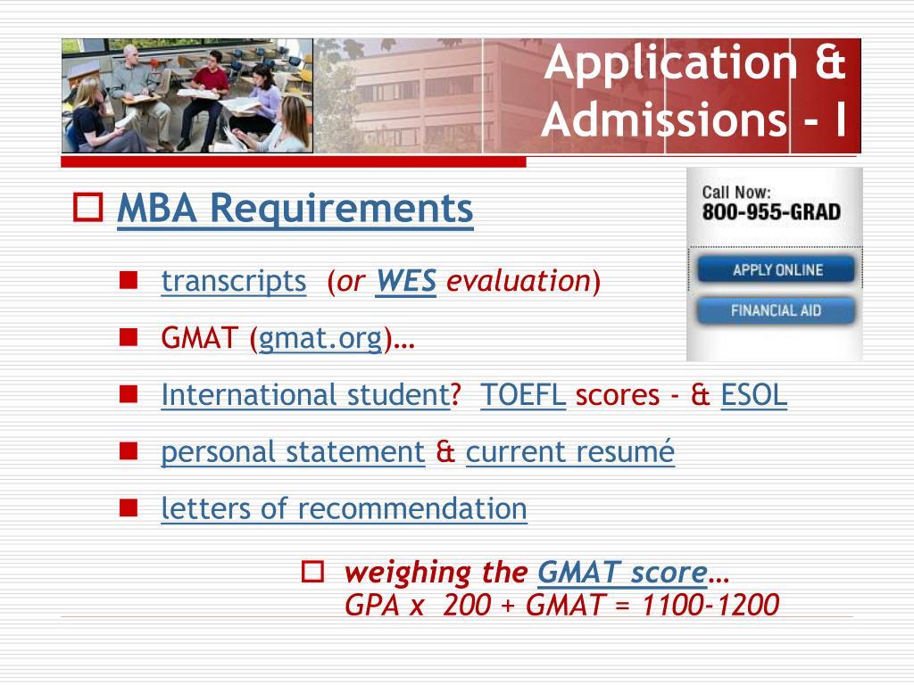Application & Admissions - I