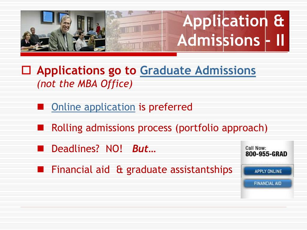 Application & Admissions - II