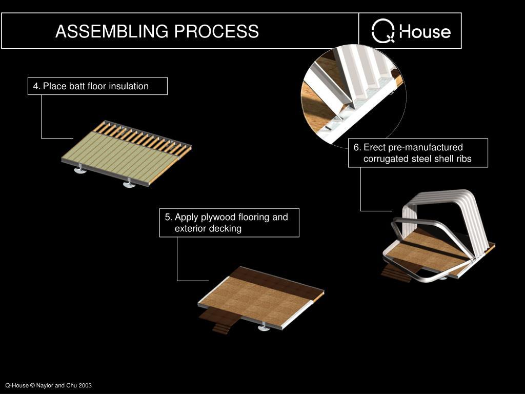 4.Place batt floor insulation