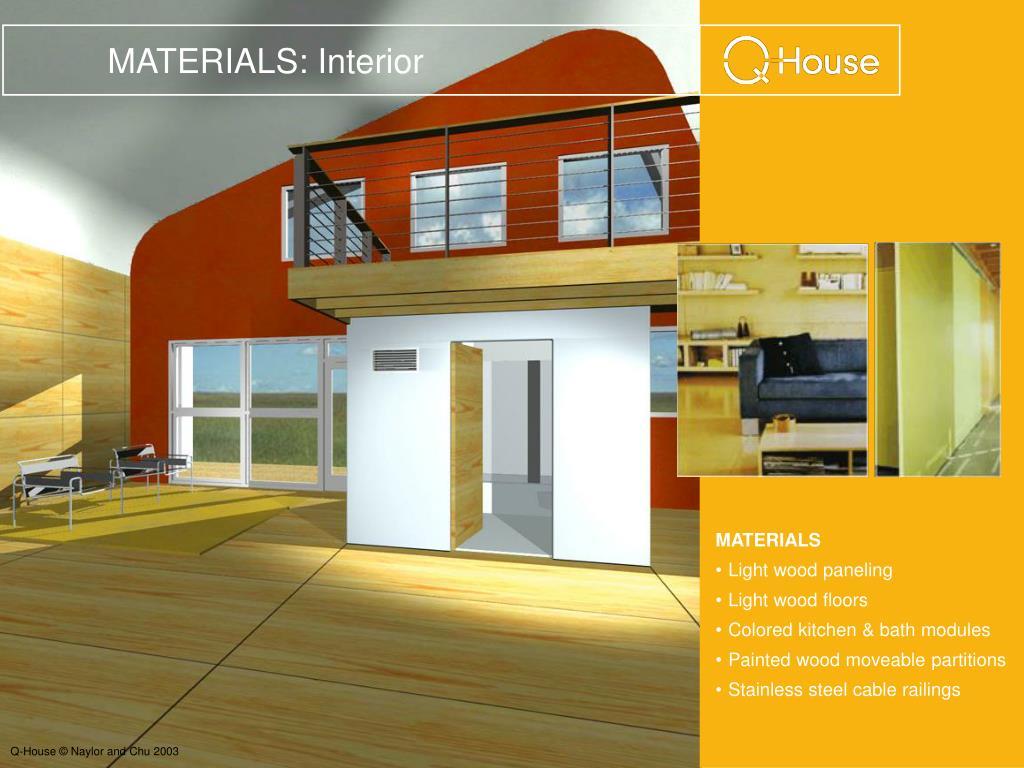 MATERIALS: Interior