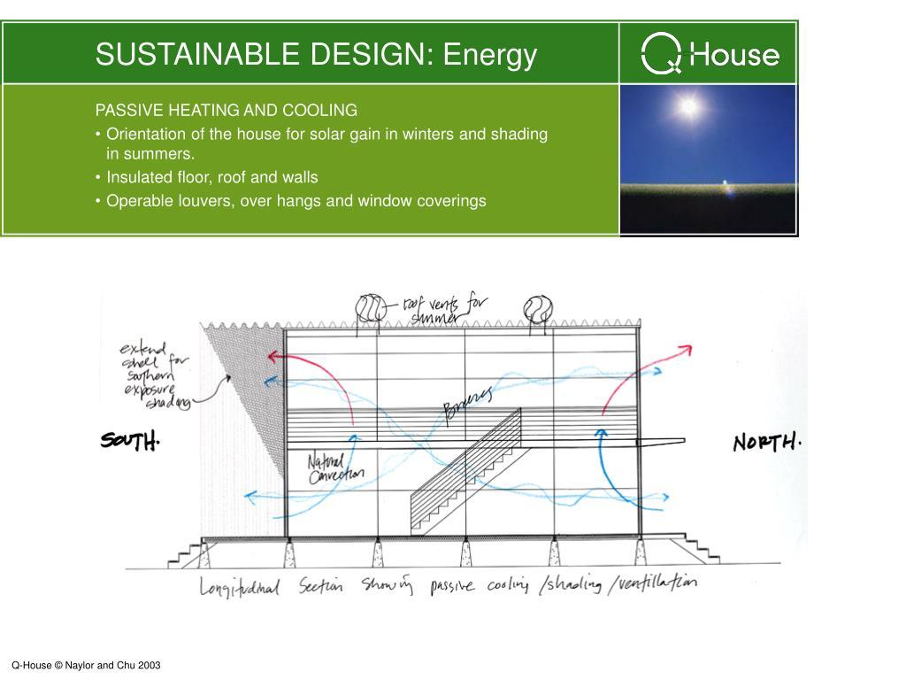 SUSTAINABLE DESIGN: Energy