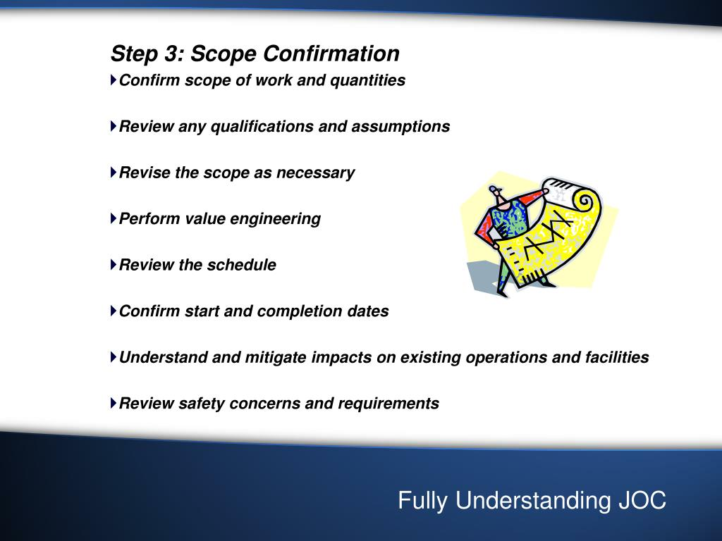 Step 3: Scope Confirmation