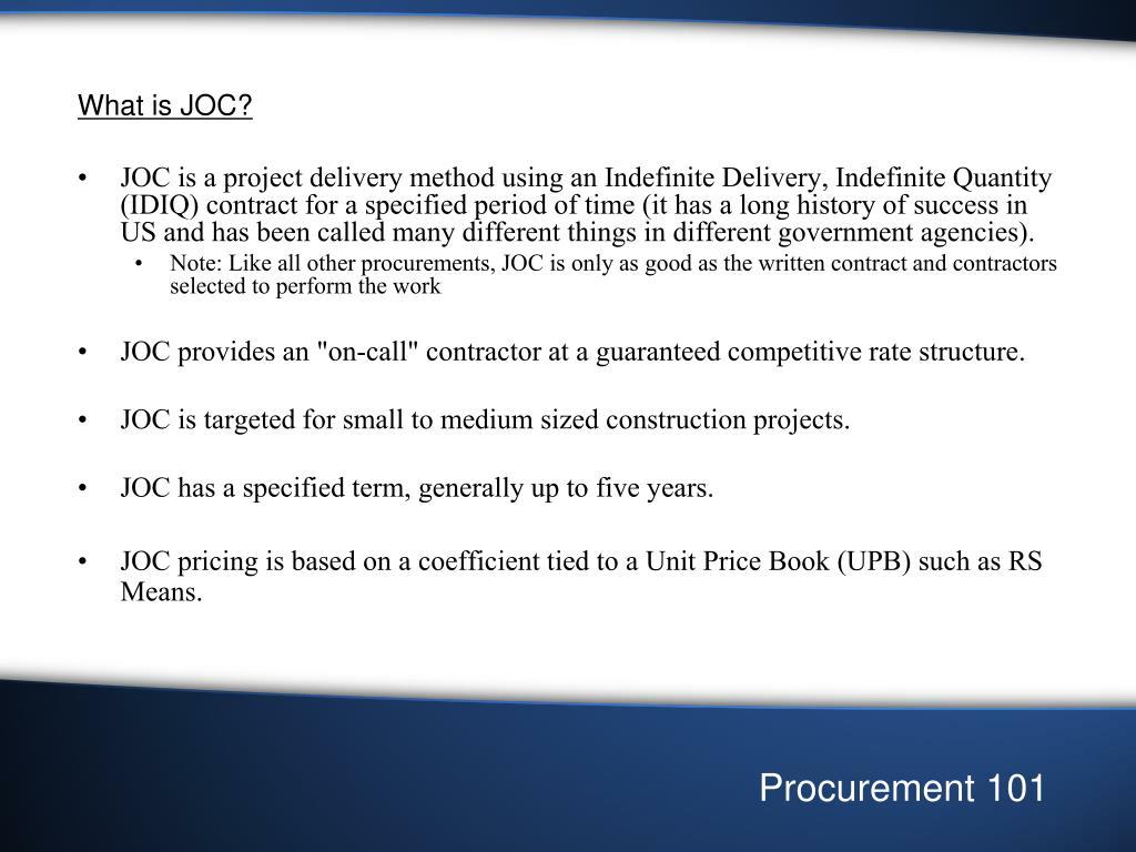 What is JOC?