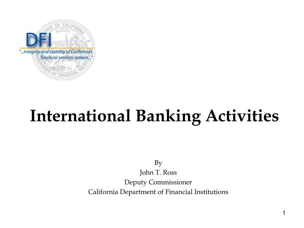 International Banking Activities