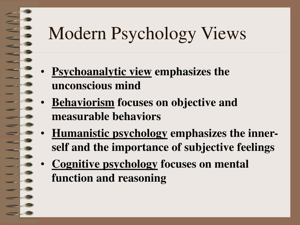 views of psychology Kenneth i pargament, phd, a leading expert in the psychology of religion and spirituality, discusses their role in mental health.
