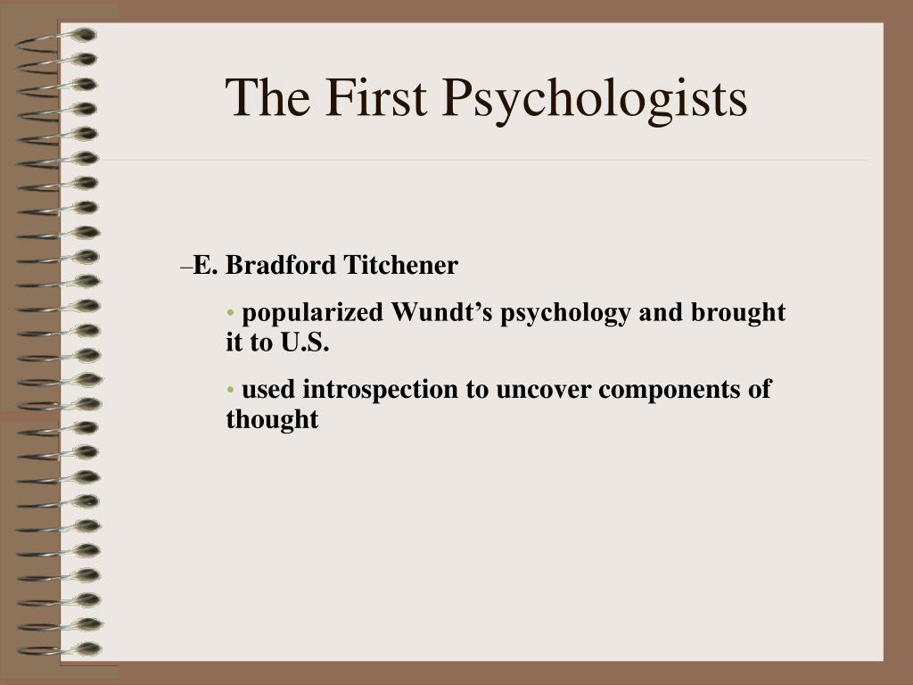 an introduction to the history of the first psychologists Want a forensic psychology career start here & learn the history of forensic psychology & how criminal psychology and profiling has evolved through history in the 1920 s, psychologists were first called to the stand as expert witnesses.