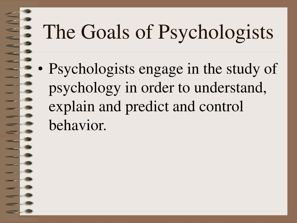the main goal of statistical research psychology essay If you major in psychology, then you will have to take statistics at some   describe data: think about what happens when researchers collect a.
