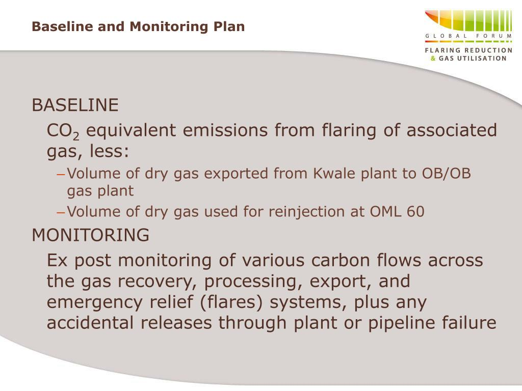 Baseline and Monitoring Plan