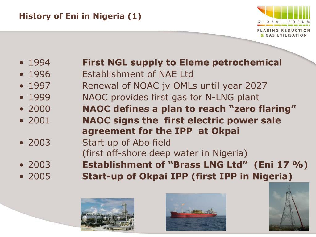 History of Eni in Nigeria (1)