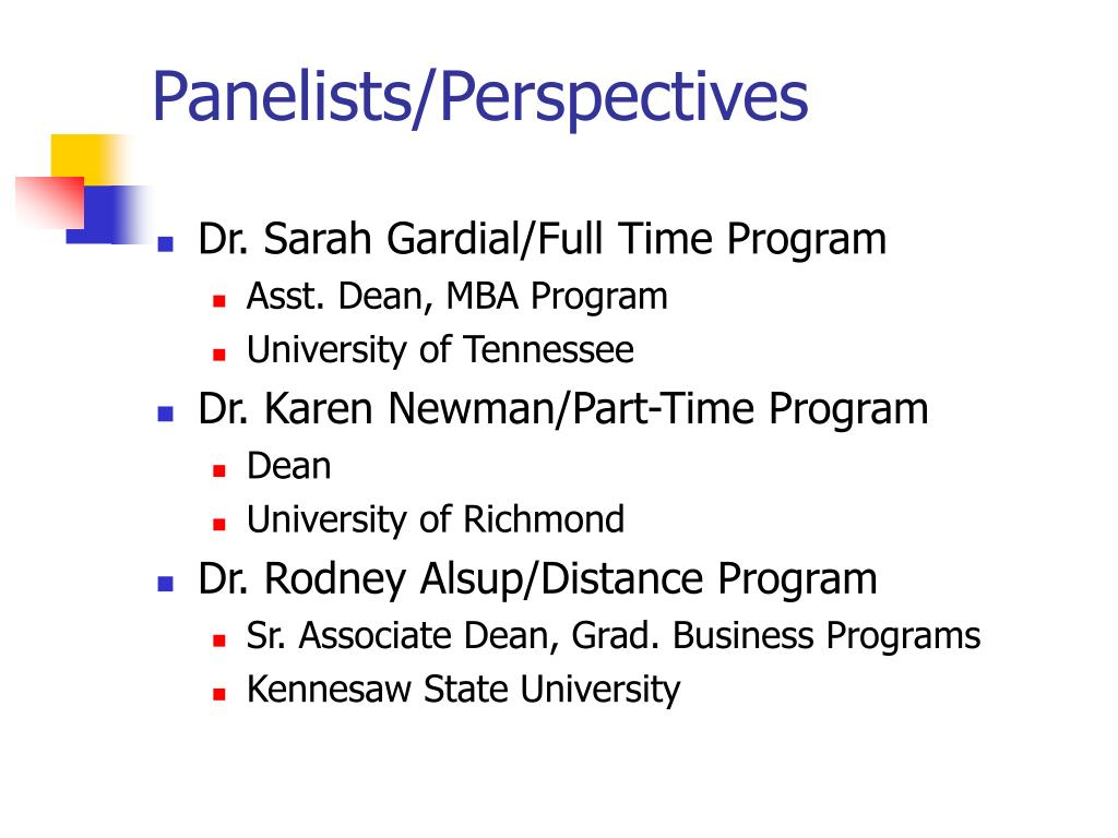 Panelists/Perspectives