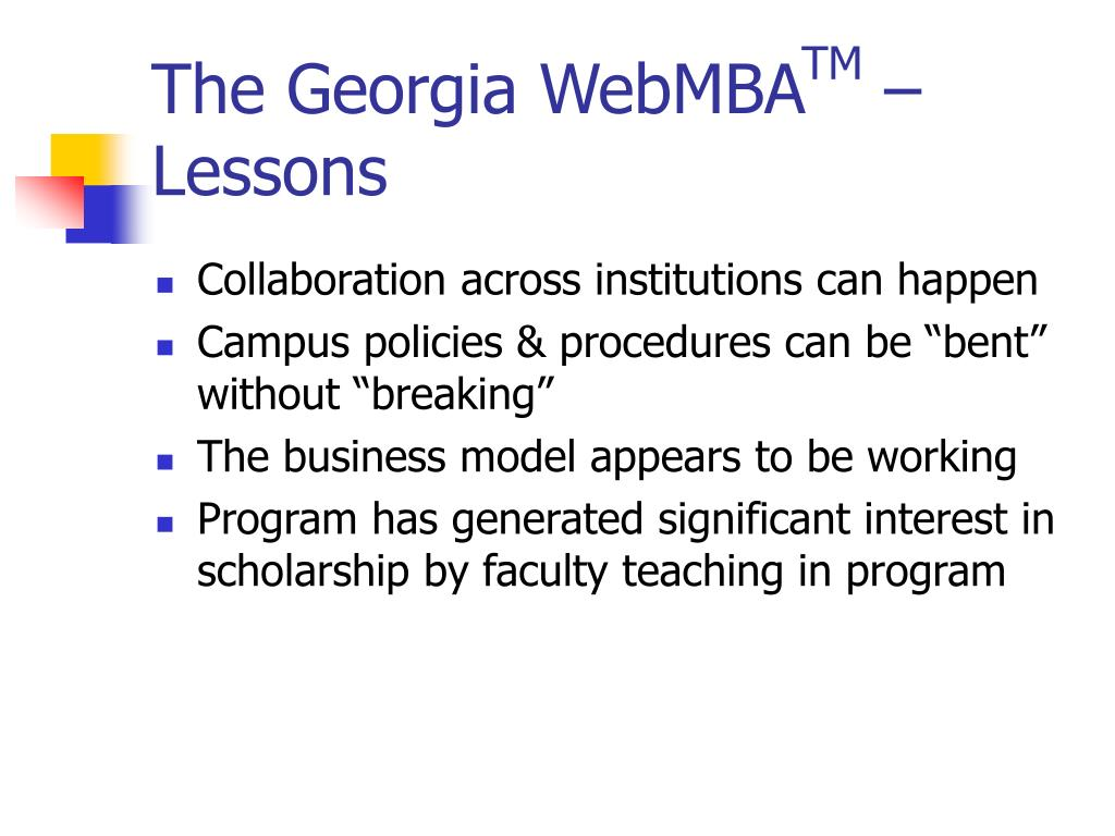 The Georgia WebMBA