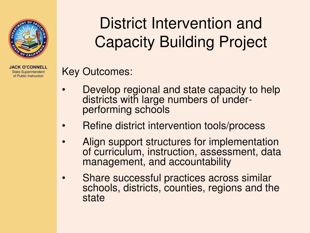 District Intervention and Capacity Building Project