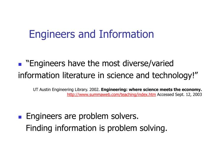 Engineers and information l.jpg