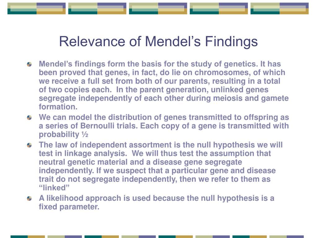 Relevance of Mendel's Findings